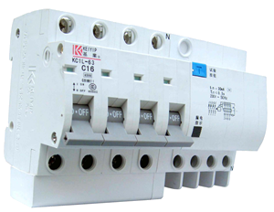 Residual Current Circuit Breakers = RCCBs