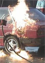 Static Electricity Sparks Car Fire